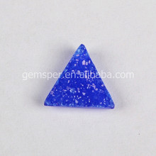 Dyeing color blue druzy cabochon,triangle trillion natural gemstone beads,loose gems stone