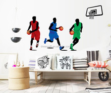 Basketball player wall stickers for kids room wall decals PVC sticking paper Home Decor Art Mural Home decor