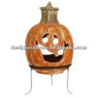 terracotta clay outdoor clay fireplace pumpkin