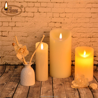 moving flame led candle Flameless LED Candle with Moving Flame Wick