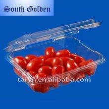 PET 250gr punnet for packing vegetabel or fruit , fruit clamshell punnet packaging