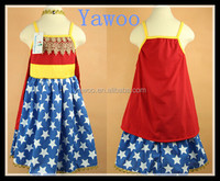 yawoo 13 year old girls dress star latest party wear dresses for girls red and blue fluffy children dress designs