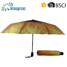 190T pongee waterproof fashion portable anti uv folding umbrella