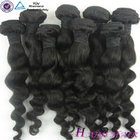 Factory Wholesale 100% Unprocessed Hair/premium blend hair weave