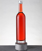 Chinese supplier OEM clear transparent glass bottle for sale