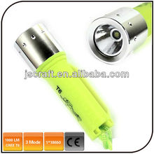 1000 lumen cree xml T6 led diving flashlight underwater diving flashlight torch