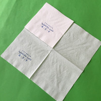 OEM 23x23cm 2ply 4fold customized printed paper napkin tissue with top quality