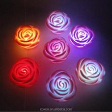 party decoration color changing novelty rose shape night lightled
