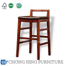 BR0801-American home used wood leather modern bar stools