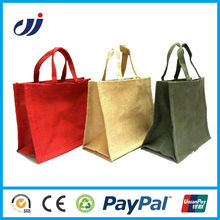 fashion high quality waterproof jute bag with window