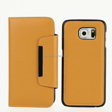 For SamSung Galaxy S6 Case, Magnet wallet case with removeable snap-on SamSung S6 Case