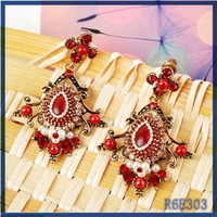 Factory price all types of earrings jewelry fashion promotional luxury fancy elegant black stone earrings for party girls
