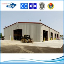 dfx brand painting or hot galvanized steel structure prefabricaed garage