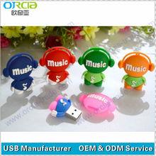 high quality 3D cartoon USB flash drive 2.0