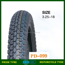 2015 New product Pride brand PD099 size 3.25-18 tyre for motorcycle