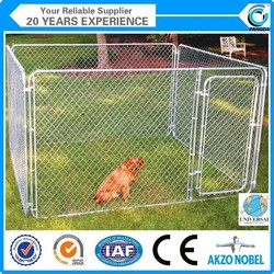 Galvanzied folded chaink link dog kennel (manfuacturer )