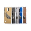 Gold 3D Love Wings Metal Skin Plating PC Back Case for Samsung Galaxy Note 4 N910