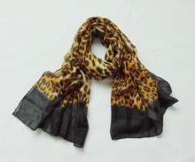 new fashion polyester leopard print scarf