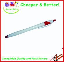 Factory price white barrel plastic pen promotional plastic pen with logo pen logo