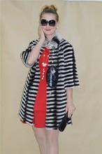 Fashionable Winter Black Rabbit fur Woman Jacket