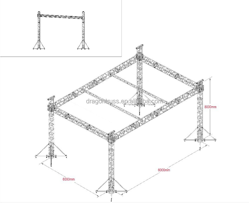 Aluminum truss system with roof buy truss system for Order trusses online