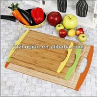 high grade PVC packed bamboo chopping board