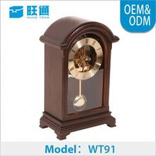 Factory price Customized classic skeleton clock