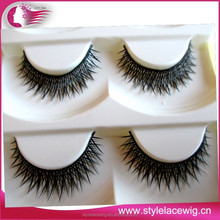 Free samples custom private label human hair cheap sale colorful false eyelashes