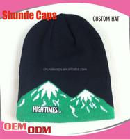Custom Skull Knit Cap Pattern Sublimation Beanie Hat Slouch Beanie Winter Hat
