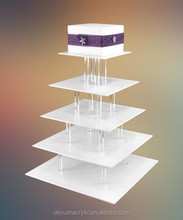 Square Acrylic cake stand/Customized acrylic cake display stand