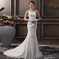SZRR1508 Alibaba Designer Bridal Backless Wedding Dress With Sash Lace Mermaid Wedding dress