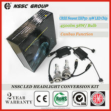 NSSC Factory Best Quality Newest XHP50 CREE car led headlight, 80w 9000 lumen led headlight dodge journey fiat freemont