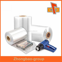Super clear heat shrinking pvc plastic film with customized size