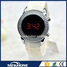 Popular design ladies girls Japan movement jewelry watch set led watches shanghai watch factory