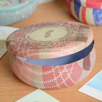 China grocery white metal circular disk storage disk storage box storage box candy tin Sewing /candy tins