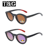Round wooden polarized lens sunglasses hot sale in china supplier cheap price eyeglasses