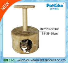 2015 China Wholesale sisal scratching pole and soft fleece cat house