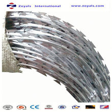 High Security diamond opening welded razor strips for wall or fence top (manufacturer)