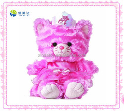 Red beautiful cat with crown stuffed toy