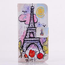 Custom Case For Samsung Galaxy S5 Stand Leather Cover Case With Drawing Painting Designs
