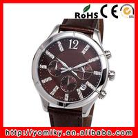 China watch wholesale stainless steel back geneva quartz watches