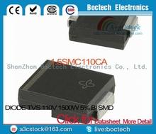 1.5SMC110CA DIODE TVS 110V 1500W 5% BI SMD 1.5SMC110CA 110 1.5SMC110 1.5SMC110C 110C C110