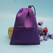 2015 new small drawstring nylon mesh bag for packing bag with customized size and style