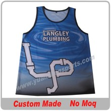 custom sublimation basketball vest no minimum order