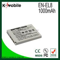 Genuine EN-EL8 ENEL8 Battery for Nikon COOLPIX S1 S2 S3 S4 S5 S6 S7 S9 P1 P2 L1 L2 MH-62