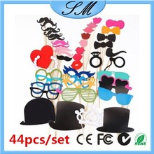 44pcs/set Photo Props on A Stick Moustache Weddings Favor