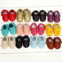 New arrival prewalker shoes kids leather moccasins baby moccs leather toddler shoes