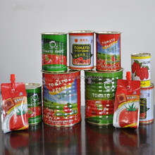 HOT!HOT! Factory supply 100% pure natural 70g-4500g tin tomato paste/canned tomato paste