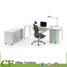 Chuangfan office furniture factory power coating frame office desk set modern table with side cabinet for office use
