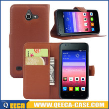 Factory price pu leather wallet case flip cover for huawei ascend y550